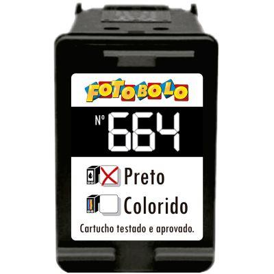 Cartucho 664 PRETO - com Corante Comestível