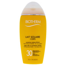 Biotherm Lait Solaire Corps Body Milk Sun Protection Spf 30 6.7 Oz Melting Texture Lotion Non Sticky Finish by Biotherm  for Women