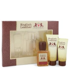 English Leather by Dana Gift Set -- 3.4 oz Cologne Body Spash + 2 oz After Shave Balm + 2.5 oz Body Wash for Men