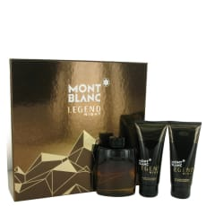 Montblanc Legend Night by Mont Blanc Gift Set -- 3.3 oz Eau De Parfum Spray + 3.3 oz After Shave Balm + 3.3 oz Shower Gel for Men