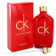 CK ONE by Calvin Klein 3.3 oz Eau De Toilette Spray (Unisex Red Collector's Edition) for Men