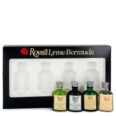 Royall Lyme by Royall Fragrances Gift Set -- Modern Classic Travel Set Includes Royall Lyme, Royall Vetiver Noir, Royall Rugby and Royall Muske all in .29 oz travel bottles for Men