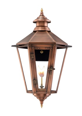 Nottoway Wall Mount Copper Lantern by Primo