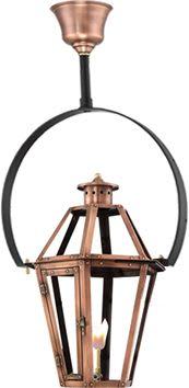 Rampart Hanging Yoke Copper Lantern by Primo