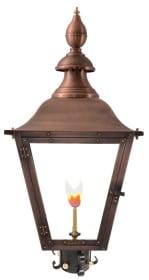 Oak Alley Post Mount Gas Copper Lantern by Primo