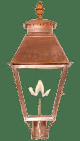 Vicksburg Post Mount Gas or Electric Lantern