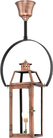 Hanging Yoke Copper Lantern by Primo