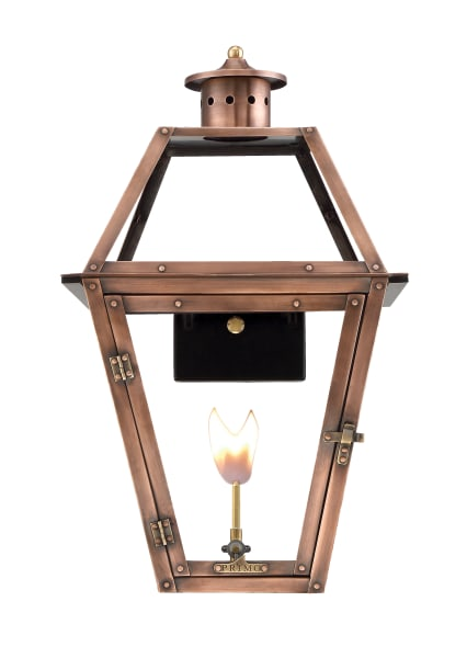 Orleans Wall Mount Gas Copper Lantern by Primo