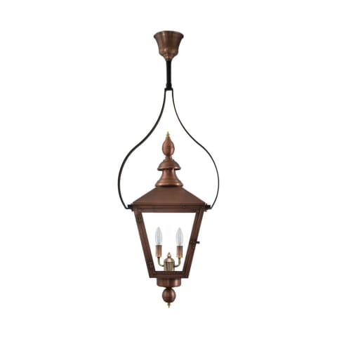 Charleston Half Yoke Gas Copper Lantern by Primo