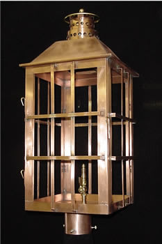 East Bay Post Top Outdoor Lantern