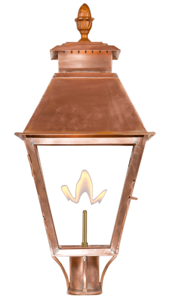 Vicksburg Post Mount Gas or Electric Lantern
