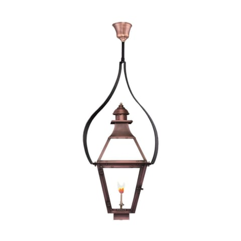 Jackson Tear Drop Yoke Gas Copper Lantern by Primo
