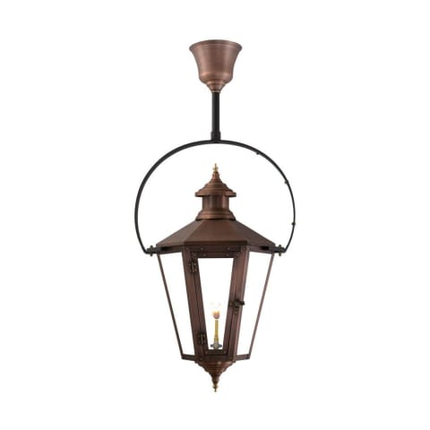 Nottoway Half Yoke Gas Copper Lantern by Primo