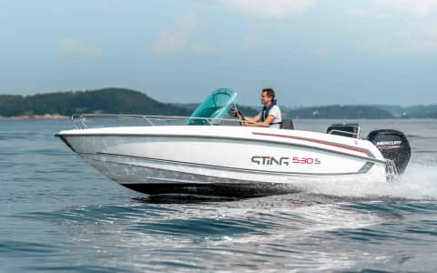 Sting 530 S at sea