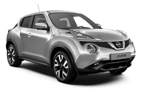 Nissan Juke i fargen sølv