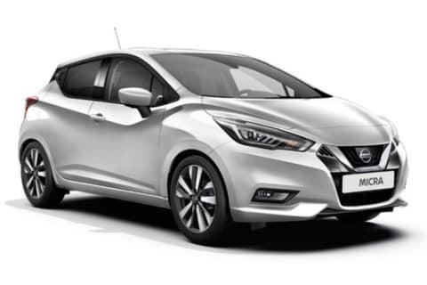 Nissan Micra sølvfarget