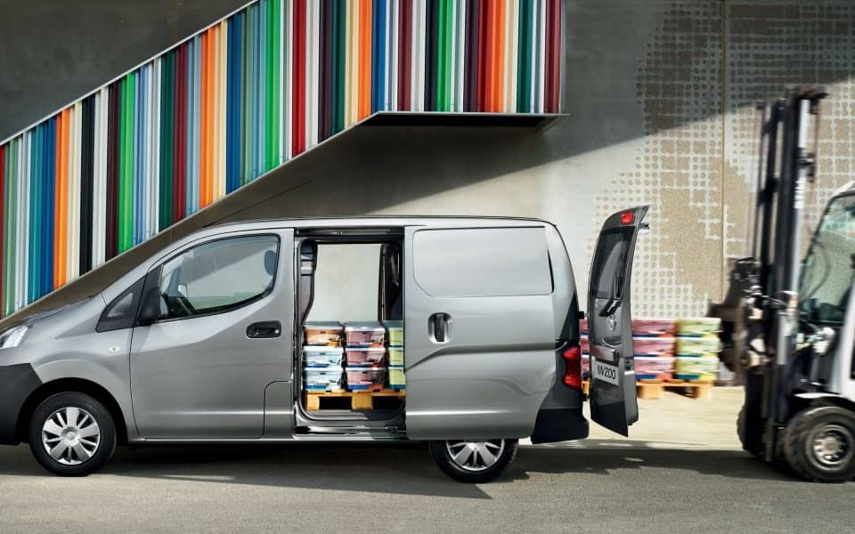 Nissan NV200 grå varelevering