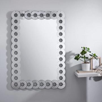 Allora Large Silver Rectangular Wall Mirror