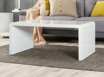 Enzo White High Gloss Coffee Table