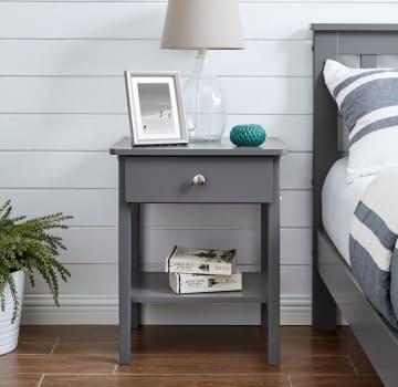 Oslo Grey Bedside Table