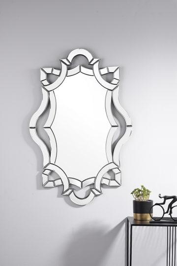 Olympus Large Silver Modern Mirror