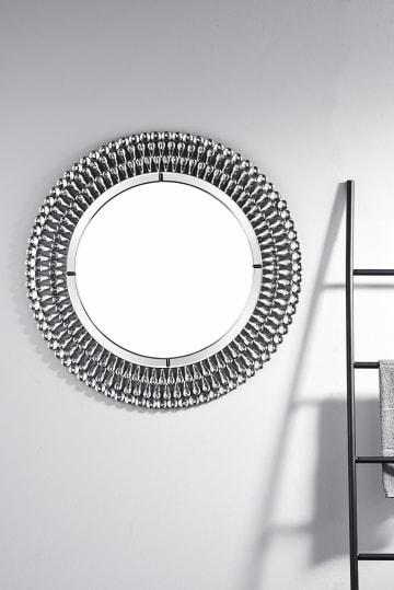 Pearl Small/Medium Silver Round Modern Wall Mirror