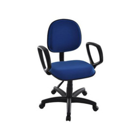 Cadeira Executiva Giratoria C/ Braco Regulavel Azul Royal 3010 Em Courissimo Stsm 120b   Stiloflex