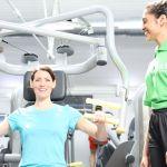 Lady enjoying a gym session