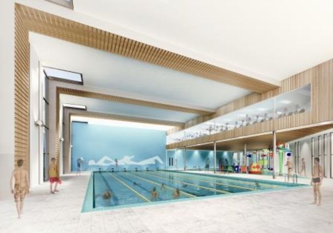 Artist's impression of new swimming pools