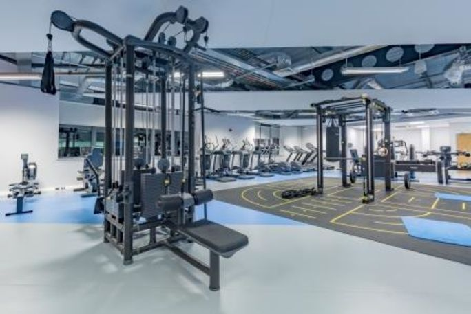 Gym equipment at Star Hub