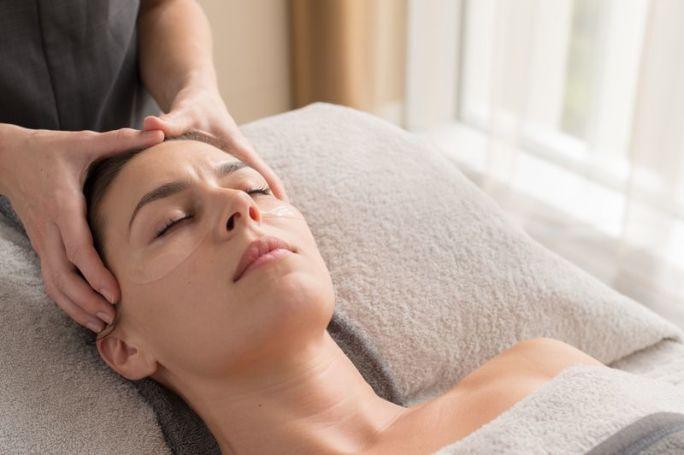A lady getting a massage
