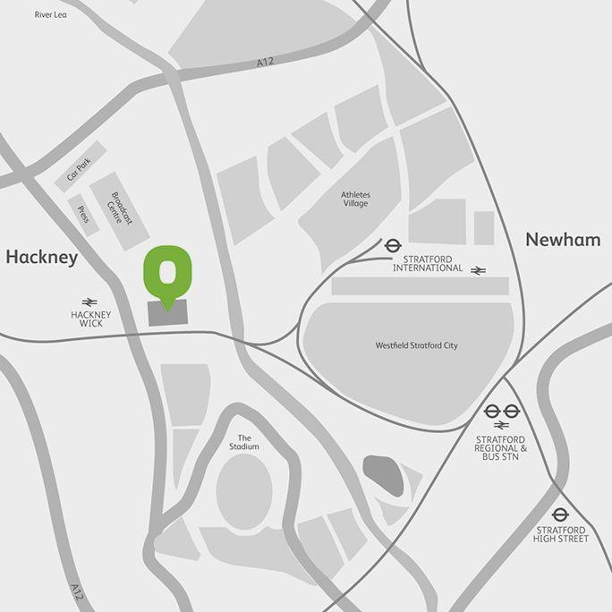 Copper Box Arena location map