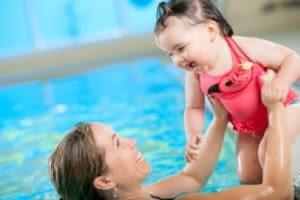 Mum and baby swimming