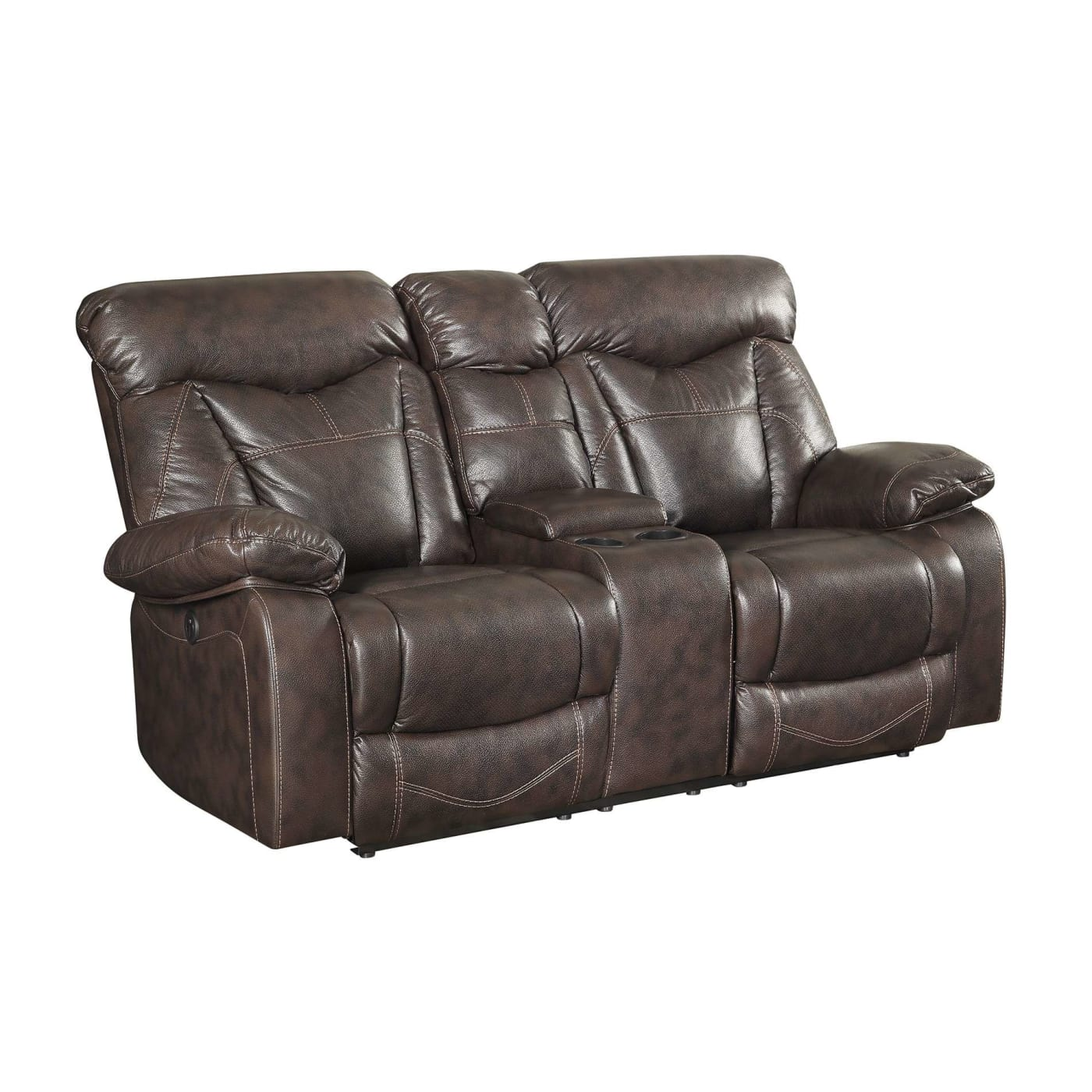 Coaster Zimmerman Brown Leatherette Power Reclining
