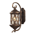Elk Barrington Gate Hazlenut Bronze 1-Light Outdoor Sconce