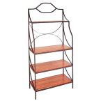 """Grace Collection Burnished Copper 36"""" Rack with 4 Shelves"""