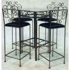 """Grace Collection Satin Black 24"""" French Traditional Counter Stool"""