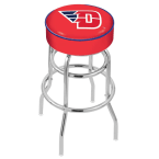 "Holland Bar Stool 25"" University of Dayton Cushion Seat Swivel Bar Stool with Double-Ring Chrome Base"