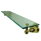 Kingston Brass Heritage Polished Brass Glass Shelf