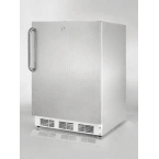 """Summit AccuCold 24"""" 5.5 cu. ft. Stainless Steel Built-In Undercounter Compact Refrigerator - ADA Compliant"""