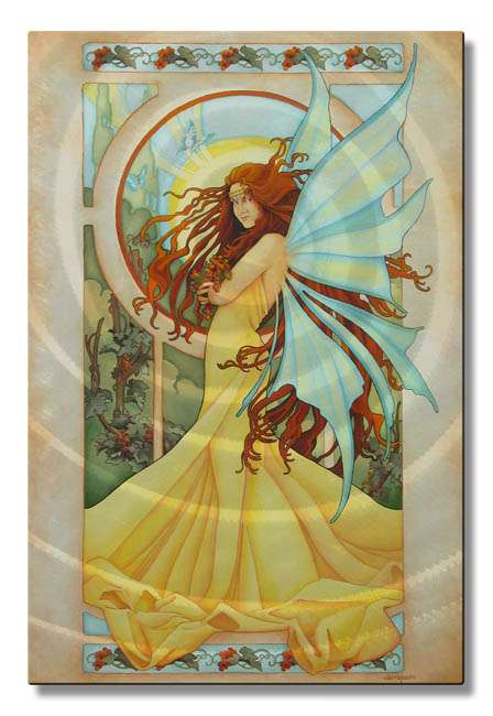 "23.5"" x 16"" ""Mighty Summer Breeze Fairy "" Metal Wall Art by Teri Rosario"