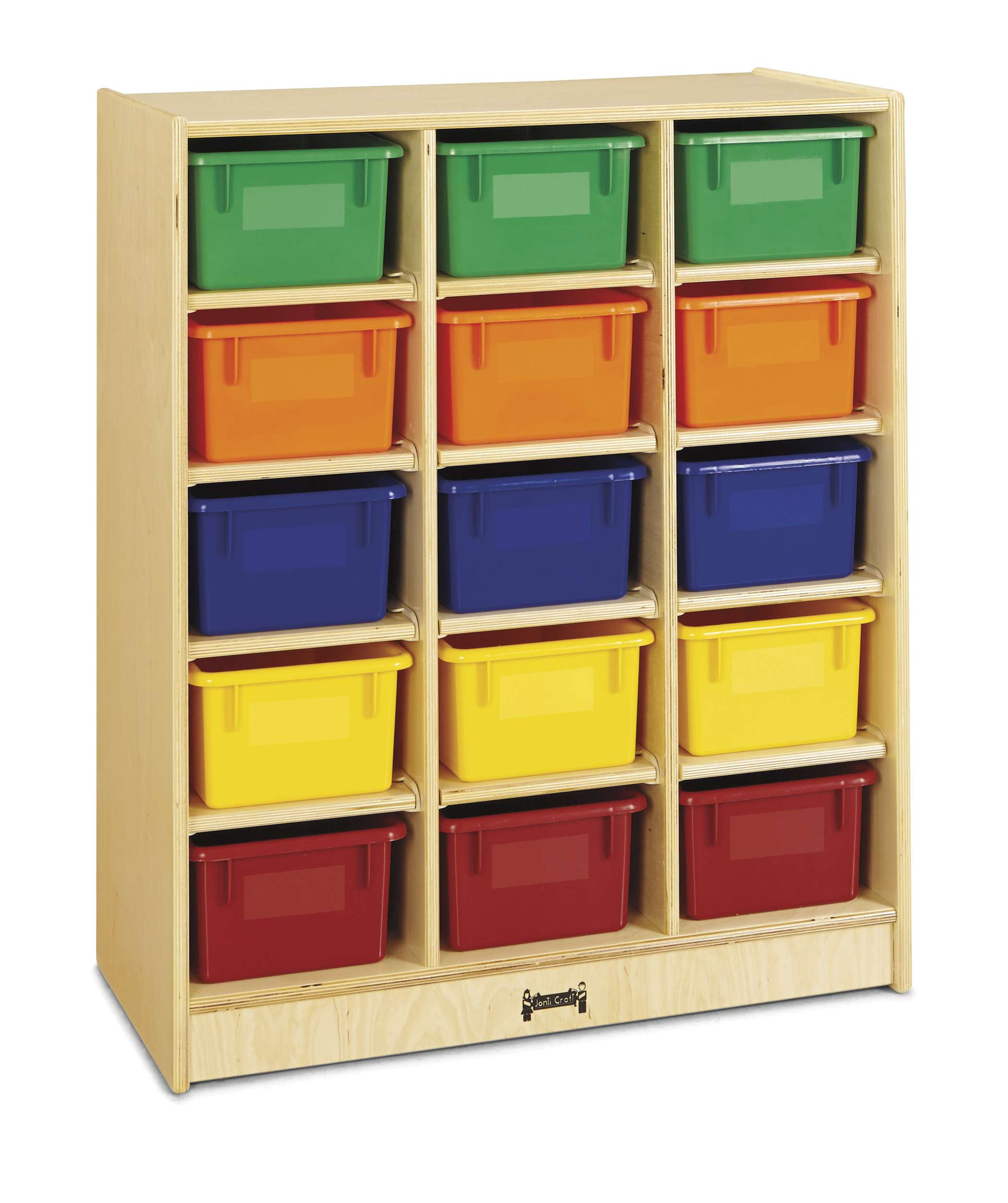 15 Cubbie-Tray Mobile Unit - with Colored Trays