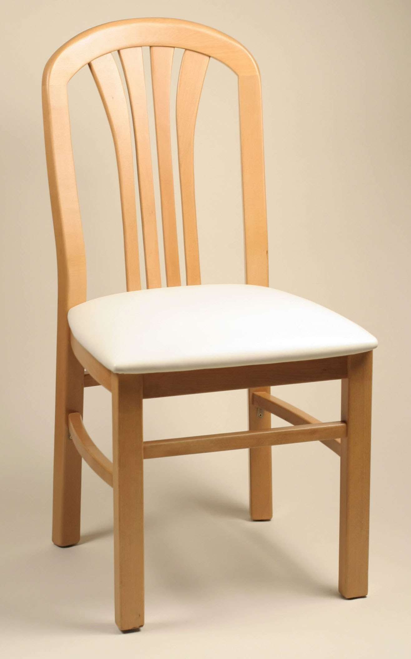 Crystal Natural Frame Side Chair with Chocolate Chips Seat - Set of 2
