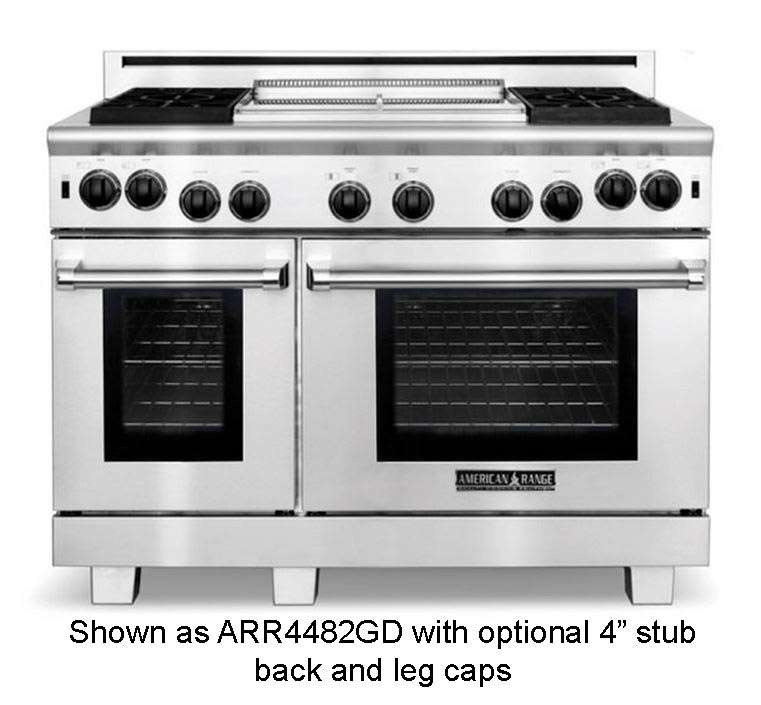 """Cuisine 48"""" Stainless Steel Sealed Burner Gas Double Oven Range - Convection"""