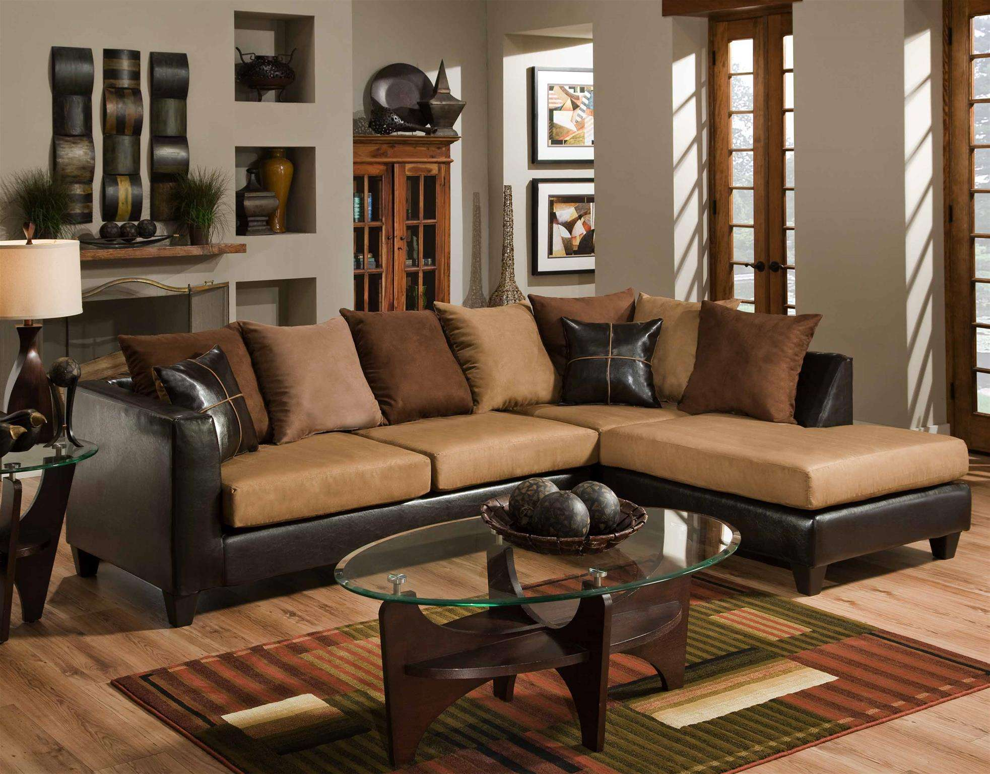 Sailor Sierra Camel & Jefferson Chocolate 2-Piece Sectional