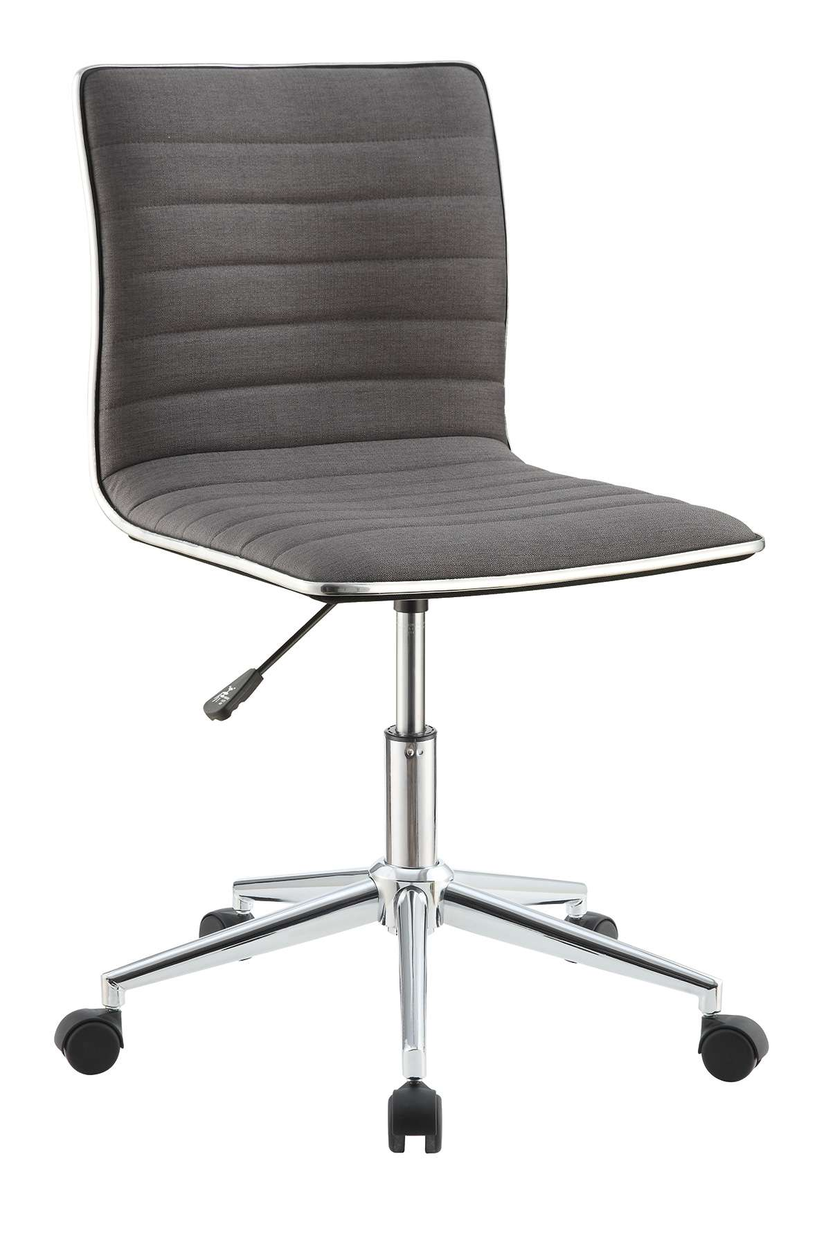 Gray Office Chair with Chrome Base