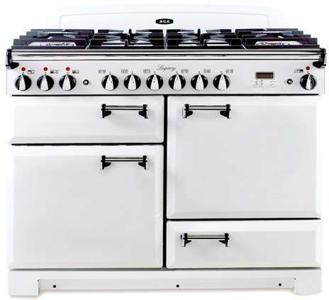 "Legacy 44"" Vintage White Dual Fuel Sealed Burner Double Oven Range - Convection"