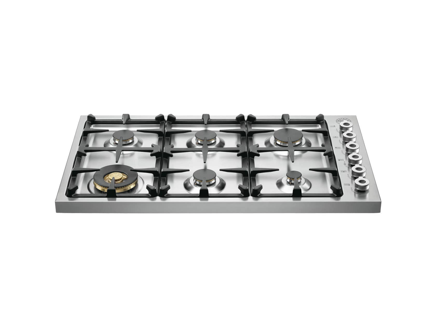 """Professional 36"""" Stainless Steel Gas Sealed Burner Cooktop"""