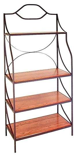 """Burnished Copper 36"""" Rack with 4 Shelves"""