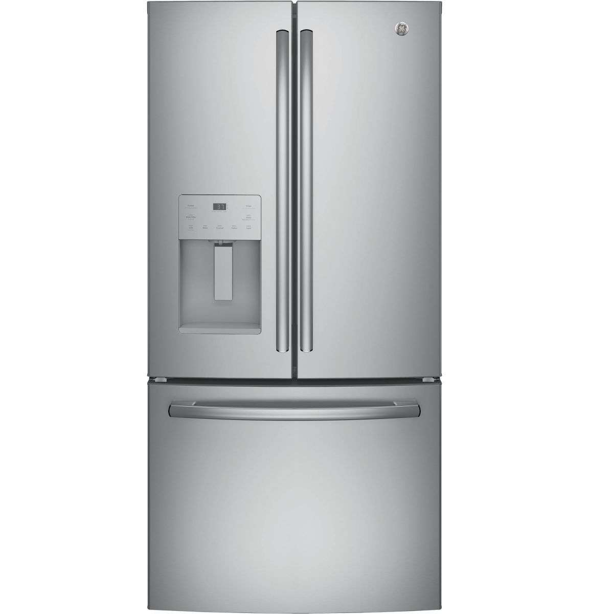 "33"" 23.8 cu. ft. Stainless Steel French Door Refrigerator - Energy Star"